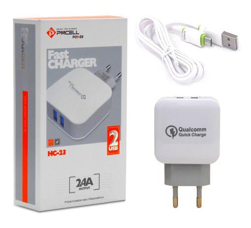 Imagem de Carregador Pmcell Com Cabo Micro USB Para Samsung Galaxy On7