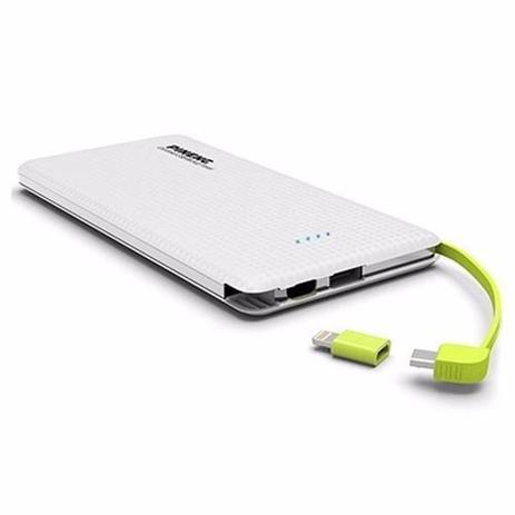 Imagem de Carregador portatil pineng 5000mah slim branco compativel iphone 7 / 7s / 8 plus