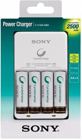 Imagem de Carregador Sony 2500 Com 4 Pilhas