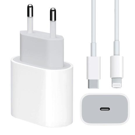 Imagem de Carregador Turbo 20W + Cabo Lightning para USB-C Hrebos Compativel Iphone 11 12 13 Pro Max X XR XS