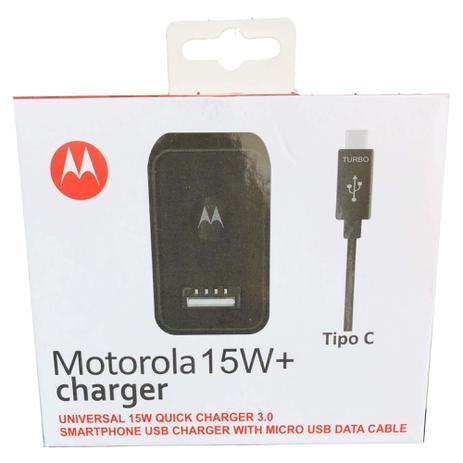 Imagem de Carregador Turbo Motorola 15W+ Cabo USB-C Tipo C