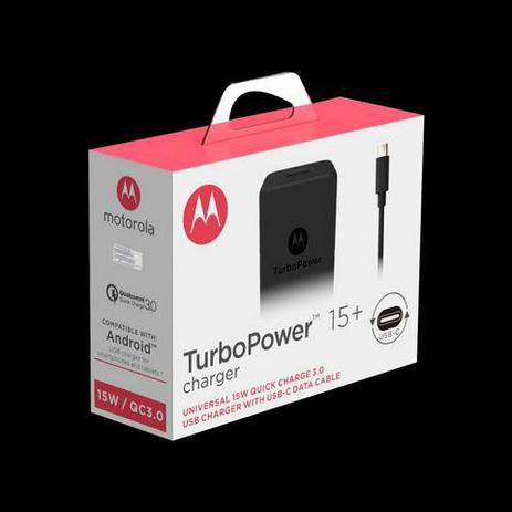 Imagem de carregador turbo power Motorola 15w - entrada V8