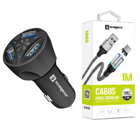 Imagem de Carregador Veicular + Cabo Magnético Original para Celular Samsung S8, S9 S10