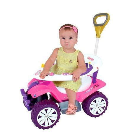 Imagem de Carrinho Andador Empurrador Direcionavel Sofy Car Rosa