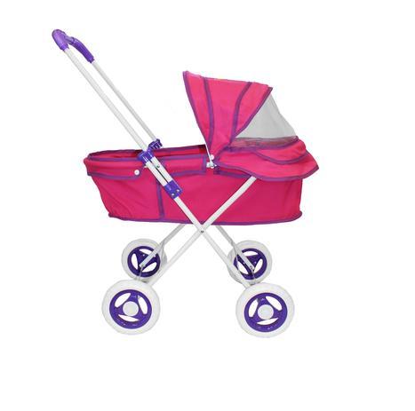 Imagem de Carrinho Berço  Shine Princess Boneca Brinquedo Reborn - Pink