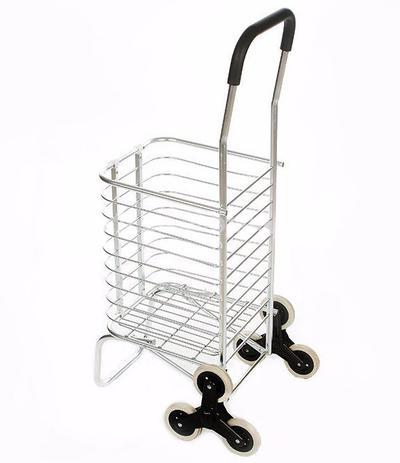 aaba58eb3 Carrinho De Aluminio Com 6 Rodas Dobravel Sobe Escada Compras - Megafun