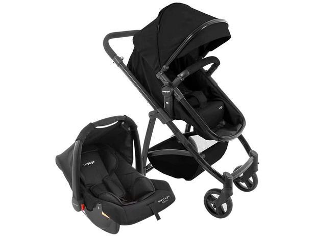 Imagem de Carrinho de Bebê com Bebê Conforto Voyage 4 Rodas