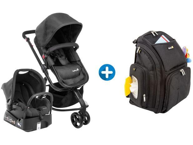 Carrinho de Bebê e Bebê Conforto Safety 1st - Mobi Reclinável + Bolsa de  Bebê com Trocador 92462170b16