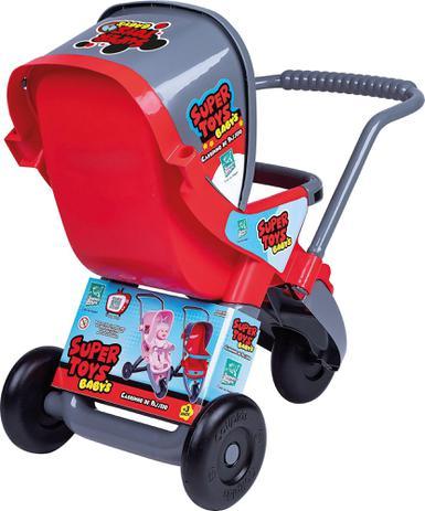 Imagem de Carrinho de Boneca 3 Rodas Vermelha Super Toys