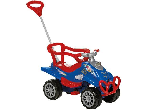 9ff93c6cd45002 Carrinho de Passeio Infantil Pedal Cross Turbo - com Empurrador Emite Sons  Calesita