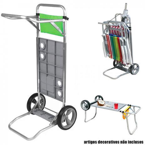Carrinho de Praia em Aluminio e Plastico Que Vira Mesa com Bolsa Porta  Objeto Botafogo 41253b51cefe4