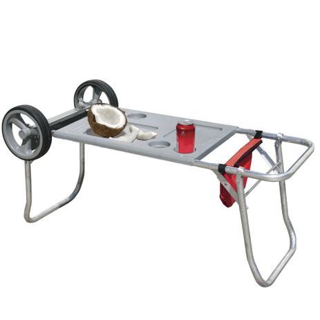 Carrinho e mesa para praia em alumínio - Botafogo - Cadeiras e Mesas ... d57e45fe99665