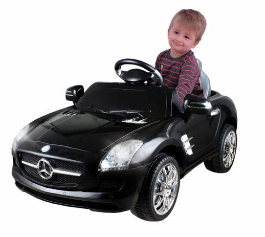 Imagem de Carrinho Elétrico Infantil Mercedes Preto - Xalingo