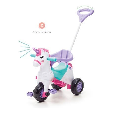 Imagem de Carrinho Motoca Triciclo Fantasy Rosa - Calesita 1001