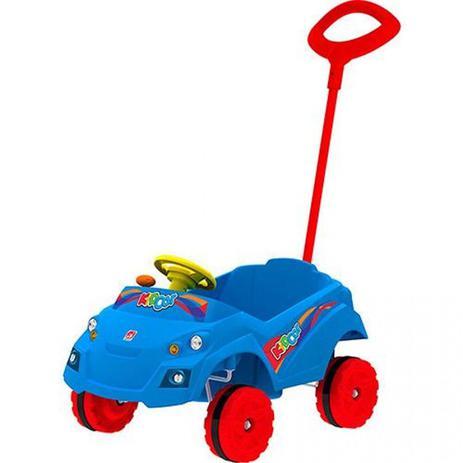 54f56bc9e09c08 Carro Kid Car Passeio Bandeirante Azul - Carros a Pedal - Magazine Luiza