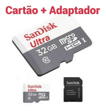 Imagem de Cartão de Memória Micro SD SanDisk 32GB Classe 10 Ultra 80mb/s Original