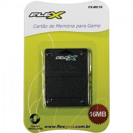 Imagem de Cartao de Memoria PLAYSTATION2 16MB Preto FXMC16 FLEX
