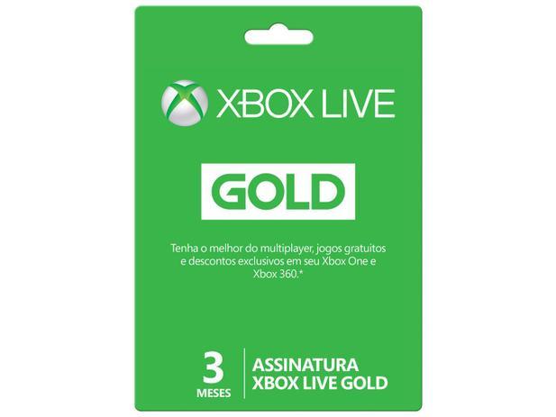 Imagem de Cartão Microsoft Xbox Live Gold 3 Meses