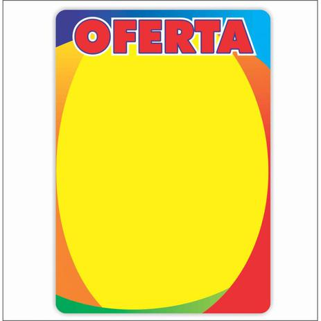 Imagem de Cartaz oferta 40x60cm  4 cores (c/50 unidades, c/ arredondados)