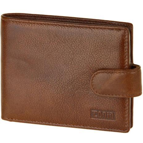 2137db9307 Carteira de Couro Carteira Masculina Porta Moedas Cartão Caramelo - Tonin