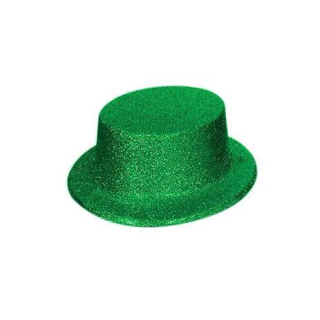 91c7eb8fc10c57 Cartola Baixa com Glitter Verde - Festabox