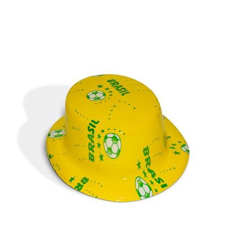 6d6f1671da57f Cartola Plástica Bolas Verde e Amarelo Brasil - Festabox - Chapéis e ...