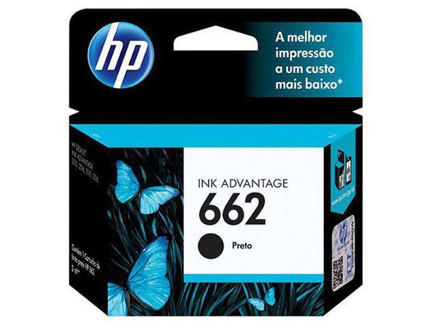 Cartucho de Tinta HP 662 Preto Original
