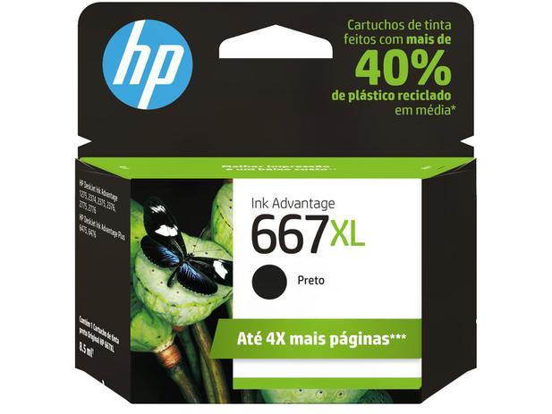 Imagem de Cartucho de Tinta HP 667XL Preto
