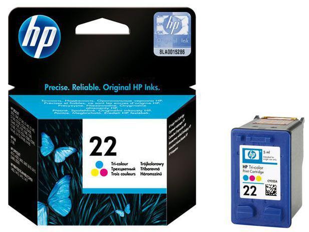 Cartucho de Tinta HP Colorido 22 - Original