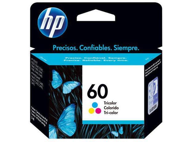 Cartucho de Tinta HP Colorido 60 Original P/ - HP F4224 4480 4580 D110a 410a 1660 C4780