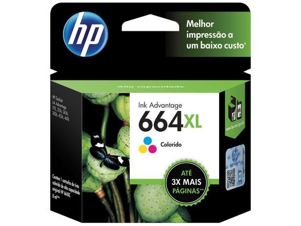 Cartucho de Tinta HP Colorido 664 XL Original