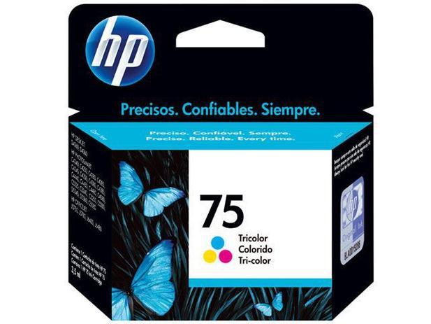 Cartucho de Tinta HP Colorido 75 - Original