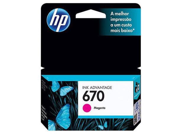 Cartucho de Tinta HP Magenta 670 - Original
