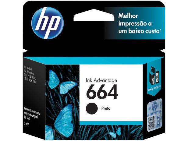 Cartucho de Tinta HP Preto 664 Original