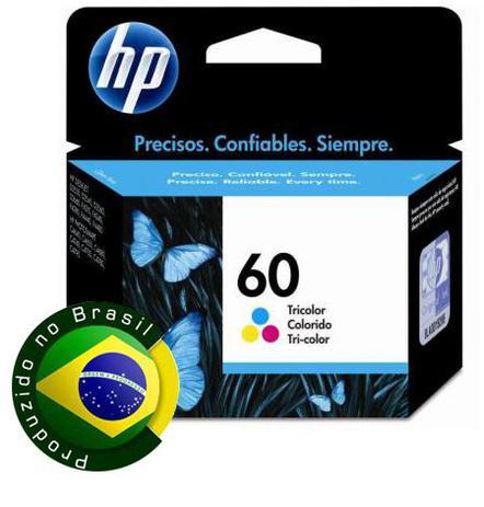 Imagem de Cartucho HP 60 Jato de Tinta Tricolor 6,5ML - CC643WB