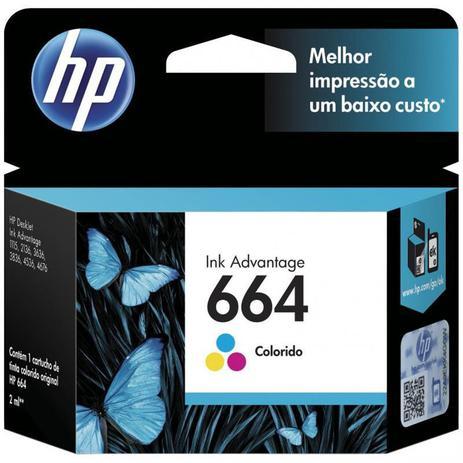 Imagem de Cartucho HP 664 2 ml F6V28AB Tricolor 1115/2136/3636/3836/4536/4676