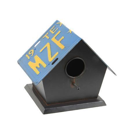 Imagem de Casa para Pássaro de Teto com Placa Azul