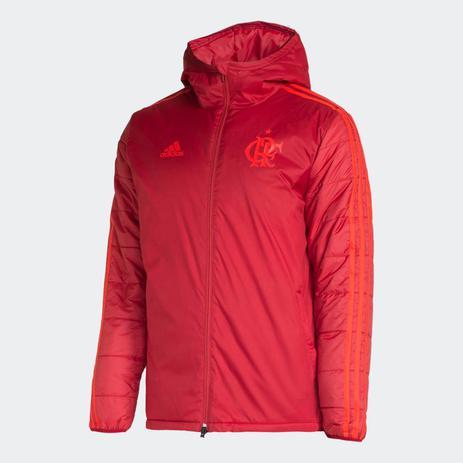 3931a29e02312 Casaco Acolchoado Flamengo Adidas 2018 Vermelho - Vestuário ...