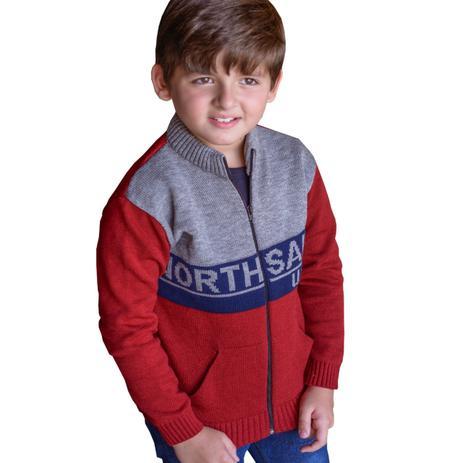 eb2878240 Casaco de lã infantil jaqueta para menino imperio trico - m 7-8 anos -  Império trico