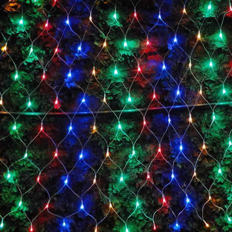 Imagem de Cascata Luminosa Pisca COLORIDA 220 VOLTS WMT1123 4 Fases 160 LED