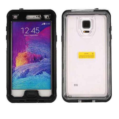 5ceebebfd31 Case Waterproof Capa A Prova Dágua Samsung Galaxy Note 4 Preto - Willhq