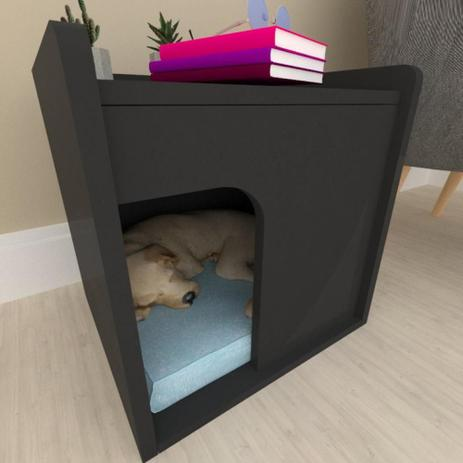 Imagem de Casinha caminha para cachorro mdf preto
