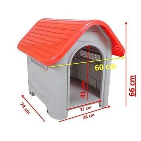 Imagem de Casinha para Cachorro Tamanho Médio Vermelha - MecPet