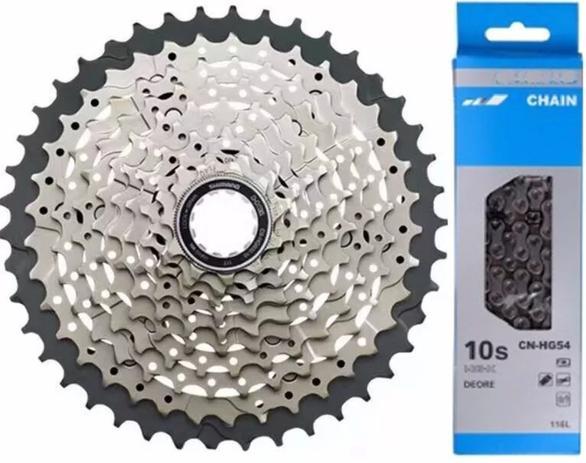 Imagem de Cassete Shimano Deore Hg500 11-42 10v M6000 + Corrente Hg54 Shimano