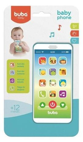 Imagem de Celular Infantil Baby Phone - Azul - Buba Toys