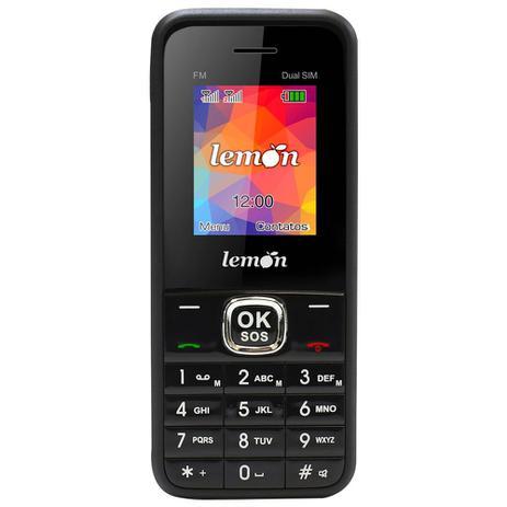 Imagem de Celular Sensi 8,  Rural, Convencional,  Teclas grandes que falam, Idoso, SOS, FM , MP3, Conexão Twist, Preto, Lemon