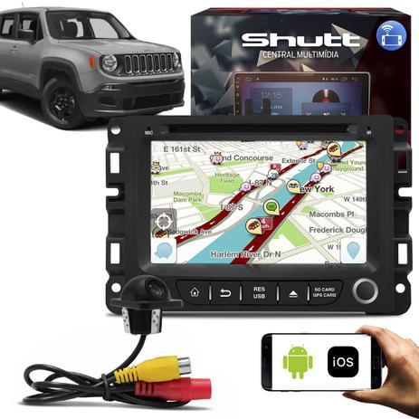 Imagem de Central Multimídia Jeep Renegade 7 Pol Shutt Espelhamento Via USB e Wifi Android IOS BT GPS + Câmera