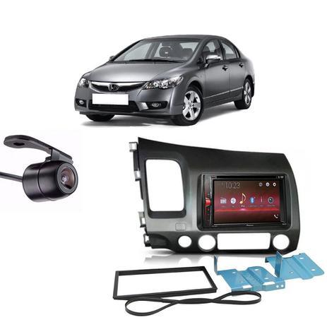 Imagem de Central Multimídia Pioneer Avh-A218bt + Moldura 2 Din + Câmera Ré Honda Civic 07/11
