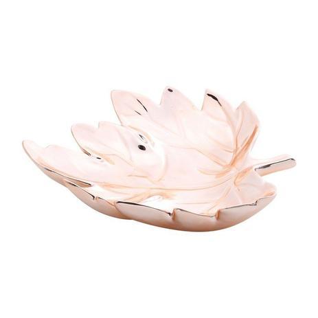 Imagem de Centro de Mesa em Cerâmica Rose 28cm Folha Prestige