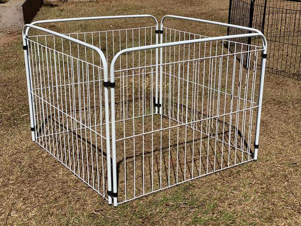 Imagem de Cercadinho Cães Coelho Canil Pet Util 4 Lados Cercado Sem Portão Branco